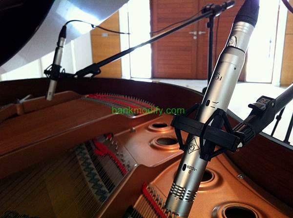 mic Golden Age Project FC4 ST โดยใช้สองตัวจับที่ soundboard