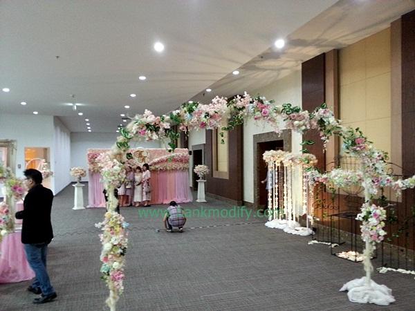 บรรยากาศหน้าห้องจัดเลี้ยงงานแต่งงาน