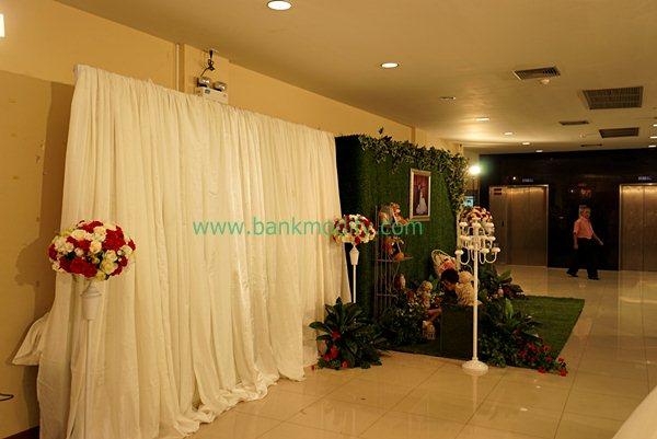 บริเวณหน้าห้องจัดเลี้ยง งานแต่งงาน