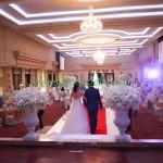 บ่าวสาวในช่วงพิธีจุดเทียนมงคลสมรสและตัดเค้ก งานแต่งงาน