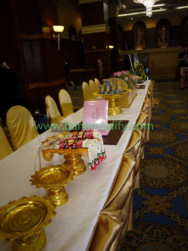 โต๊ะรับของชำร่วย งานแต่งงาน