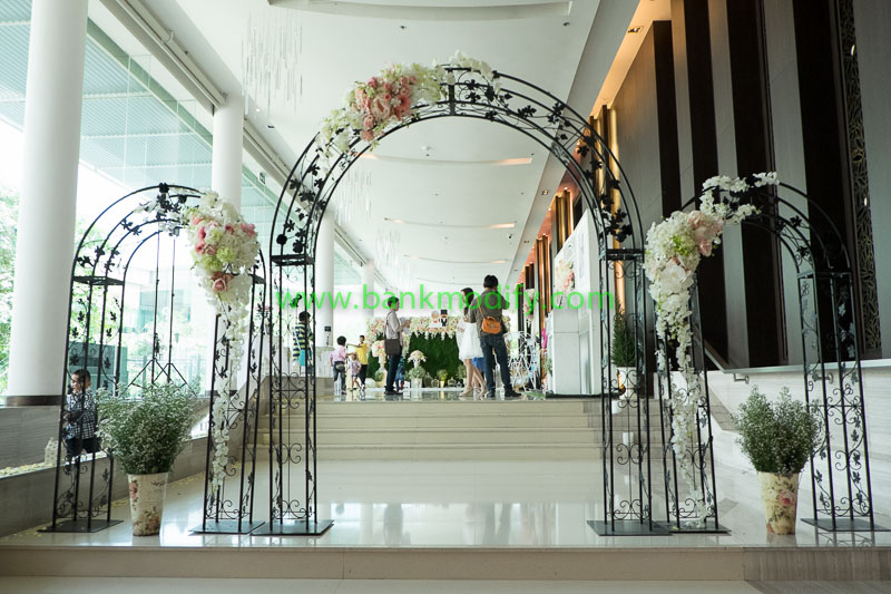 ทางเข้าบริเวณจัดเลี้ยงงานแต่งงาน