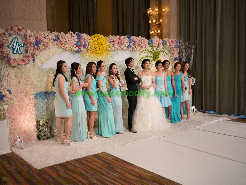 Backdrop สำหรับถ่ายรูปกับบ่าวสาว งานแต่งงาน