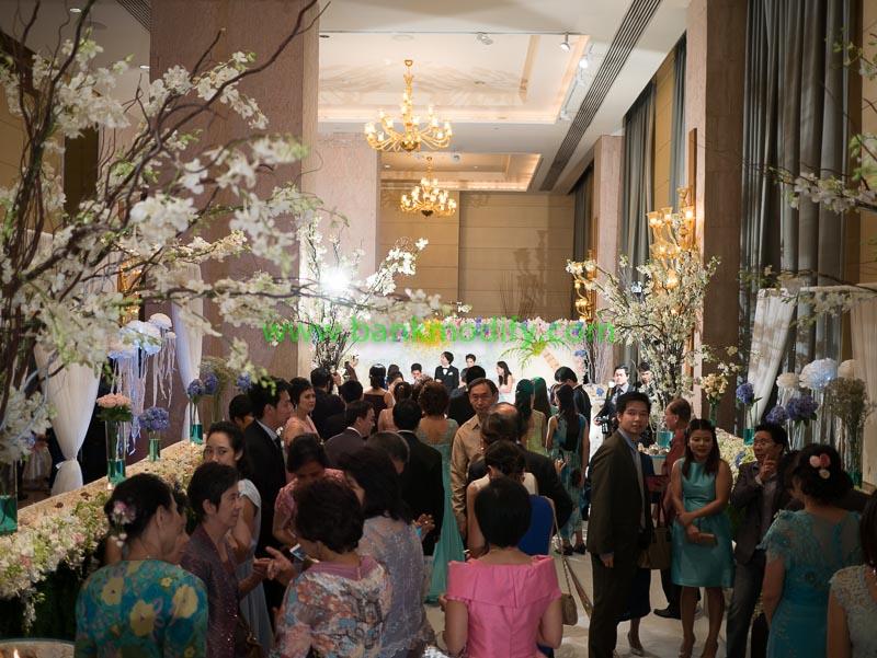 บริเวณทางเข้าห้องจัดเลี้ยง งานแต่งงาน