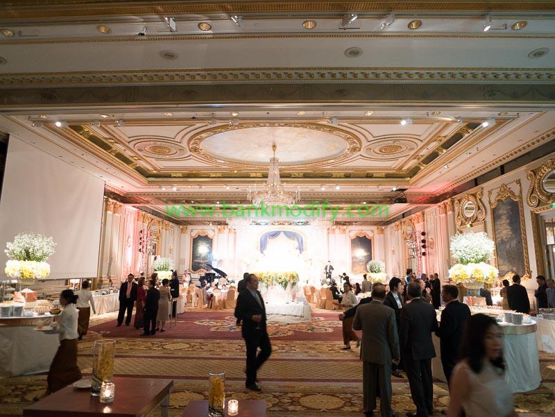 ภายในห้อง Royal Ballroom งานแต่งงาน