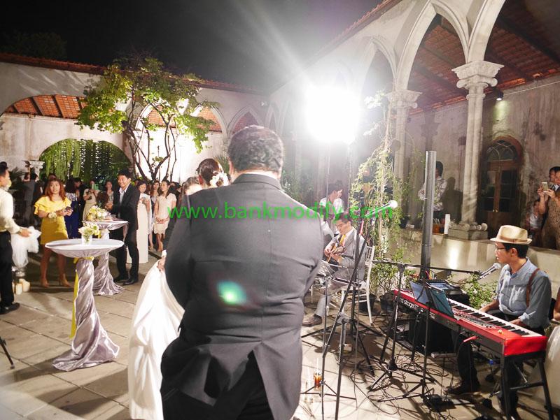 บ่าวสาวในช่วงพิธีการ งานแต่งงาน
