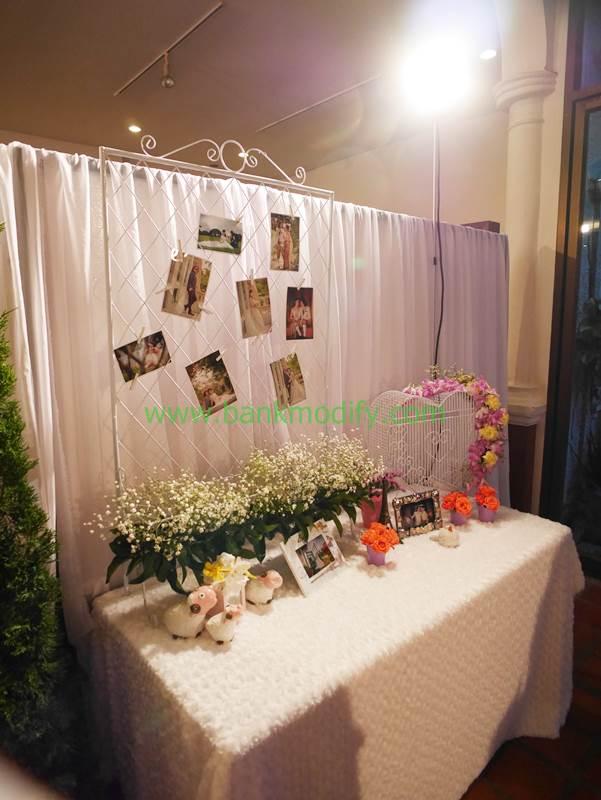 การตกแต่งหน้าห้องจัดเลี้ยงงานแต่งงาน