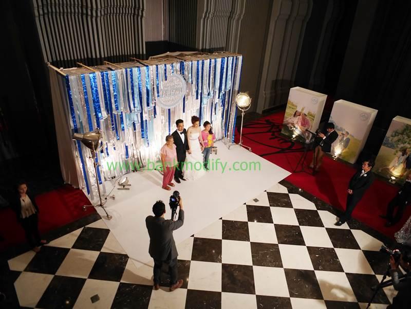 Backdrop งานแต่งงาน ในมุมสูง