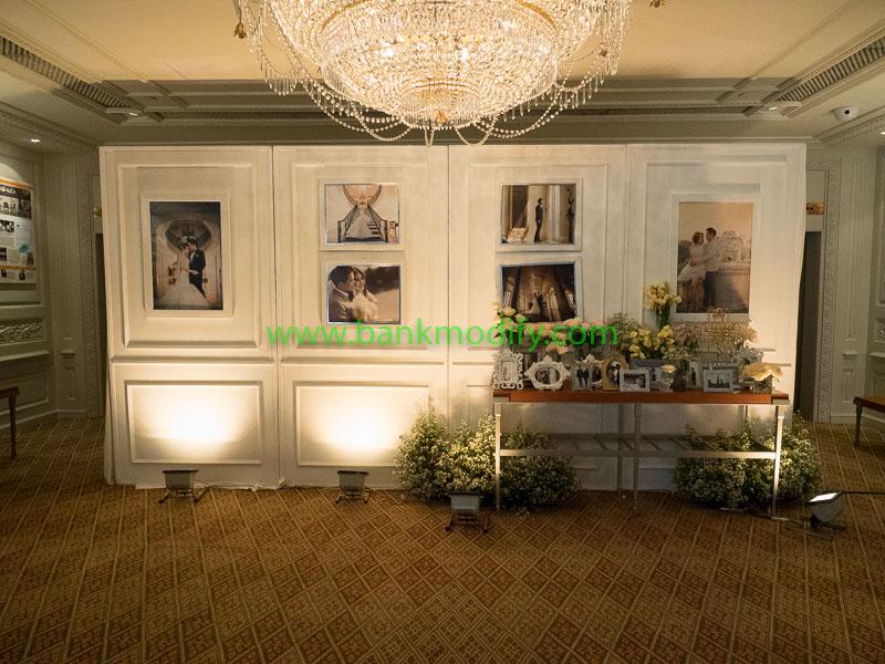 การตกแต่งบริเวณหน้าห้องจัดเลี้ยง งานแต่งงาน
