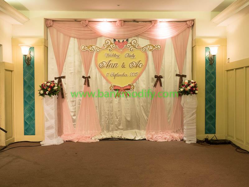 เวทีและ backdrop งานแต่งงาน