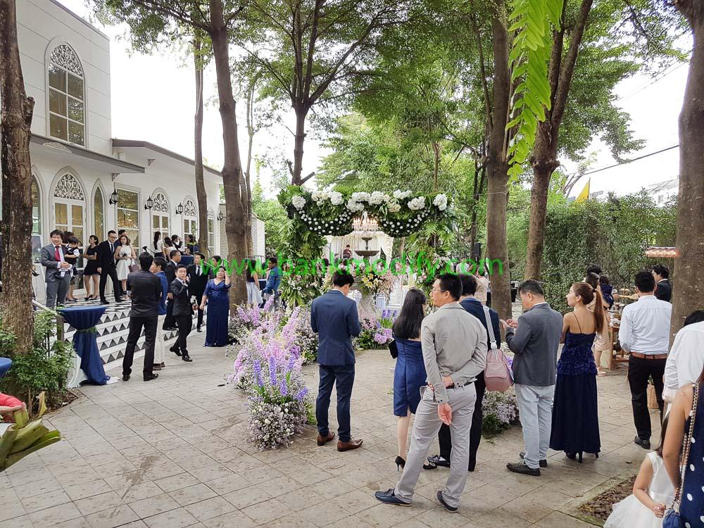 บรรยากาศภายในบริเวณจัดงานแต่งงาน