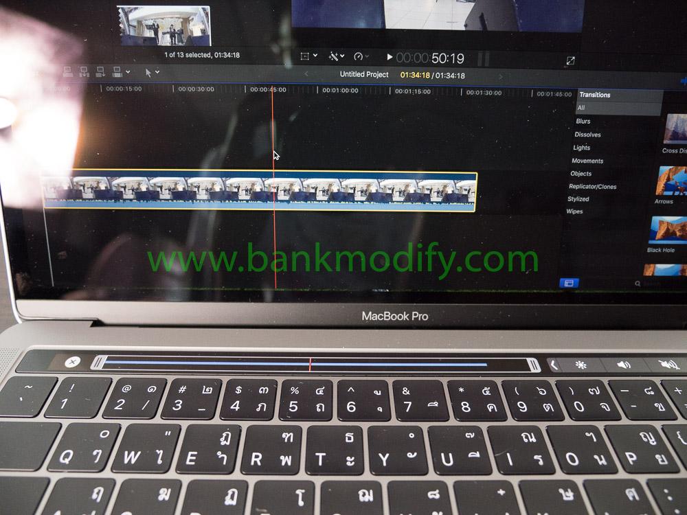 Touchbar บน final Cut Pro X 10.3